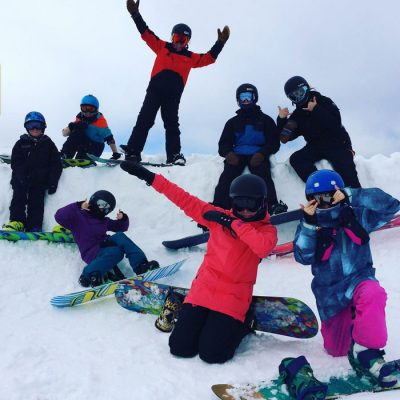 snowboarding school holiday program